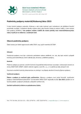 Podpora materiál/klubovny/akce 2015 nova