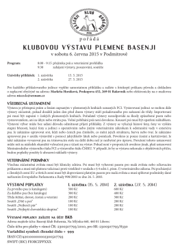 propozice - Basenji klub Bohemia
