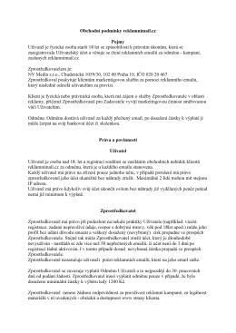 Obchodní podmínky reklamnimail.cz Pojmy