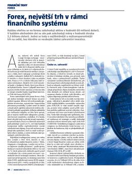 Forex, největší trh v rámci finančního systému