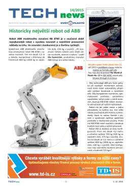 Historicky největší robot od ABB