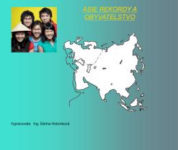 1. Asie – rekordy a obyvatel stvo