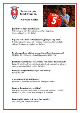 Rozhovor s Miroslavem Kadlecem