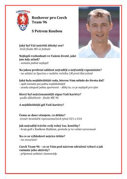 Rozhovor pro Czech Team 96 S Petrem Koubou