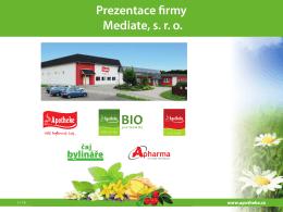 Prezentace firmy Mediate, s. r. o.