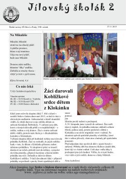 Jílovský školák 2 - ZŠ Jílové u Prahy