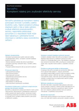 ServisPro ServisPro je komplexní nástroj pokrývající činnosti v
