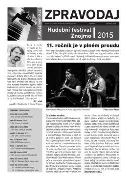 ZPRAVODAJ - Hudební festival Znojmo