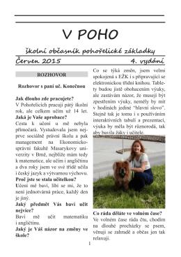 Školní časopis V Poho – 4. vydání