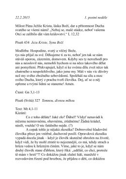 22.2. kázání P. Pokorného O pokušení Mt 4,1-11
