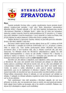 Zpravodaj 10 15 - Obec Stehelčeves
