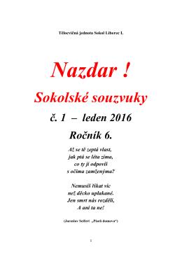 Souzvuky – leden 16 - TJ Sokol Český Brod