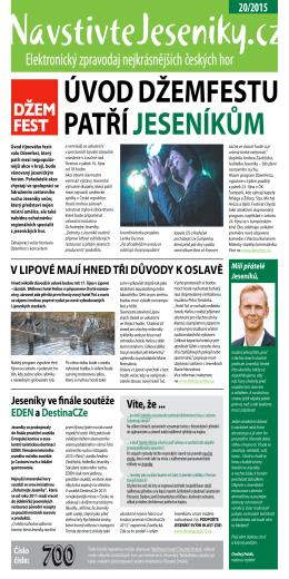Elektronický zpravodaj 20/2015