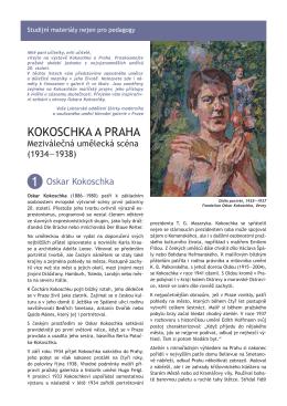 KOKOSCHKA A PRAHA - Národní galerie v Praze