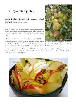21. říjen - Den jablek