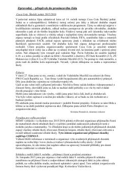 Zpravodaj – příspěvek do prosincového čísla