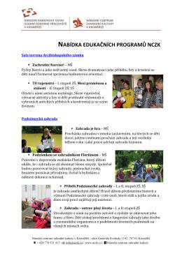 Edukační programy NCZK