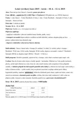 Letní výcvikový kurz 2015 – tercie – 10. 6.