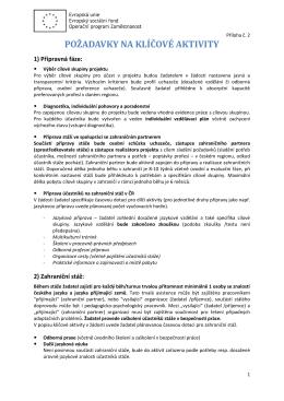 Příloha č. 2 - Požadavky na klíčové aktivity