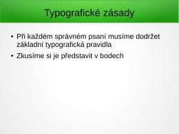 Typografické zásady