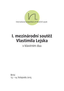 Brožura a program soutěže