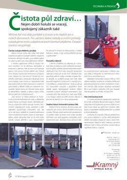Článek z časopisu TECHNIKA A PROVOZ 2/2009