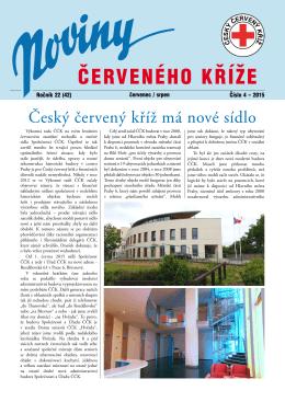 ČERVENÉHO KŘÍŽE - Český červený kříž