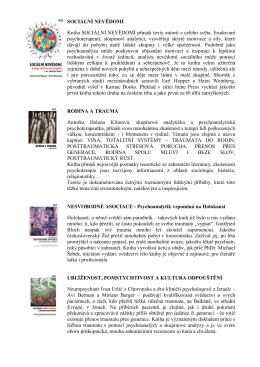 SOCIÁLNÍ NEVĚDOMÍ Kniha SOCIÁLNÍ NEVĚDOMÍ přináší texty