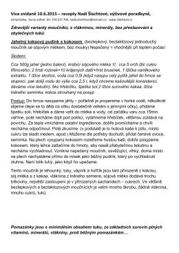 Viva snidane recepty 10.6.2015