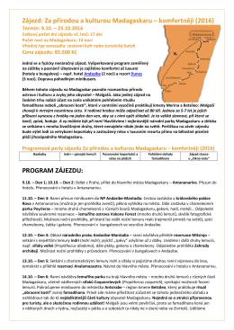 Detailní program expedice v PDF