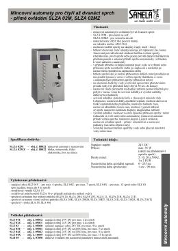 Mincovní automaty pro čtyři až dvanáct sprch - přímé