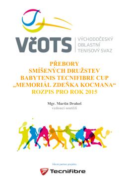 Rozpis-Memoriál Zdeňka Kocmana 2015