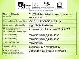 vy_32_inovace_m2.2.13 - Sportovní gymnázium Plzeň
