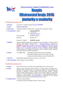 Mistrovství Jm kraje - juniorky a seniorky