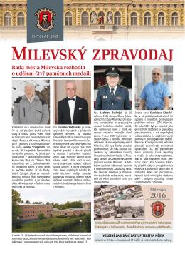 Rada města Milevska rozhodla o udělení čtyř