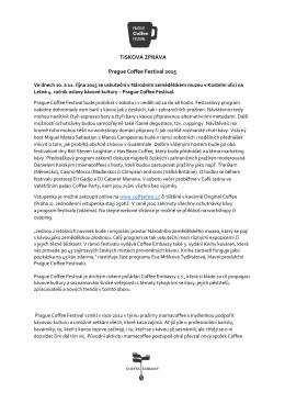 Prague Coffe Festival 2015 - Národní zemědělské muzeum