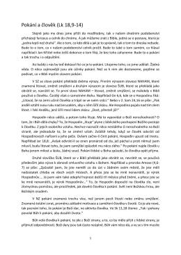Pokání a člověk (Lk 18,9-‐14)