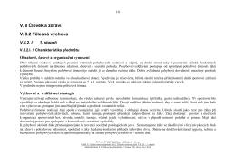 V. 8 Člověk a zdraví V. 8.2 Tělesná výchova