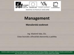 Manažerská osobnost