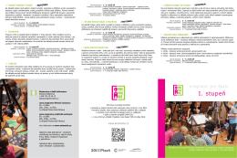 katalog programů pro 1. stupeň na školní rok 2015/16