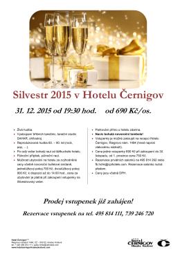 Silvestr 2015 v Hotelu Černigov