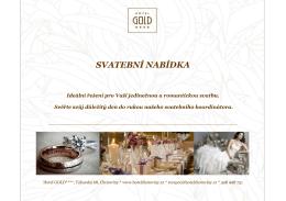 nabídka ke stažení - Hotel GOLD Chotoviny