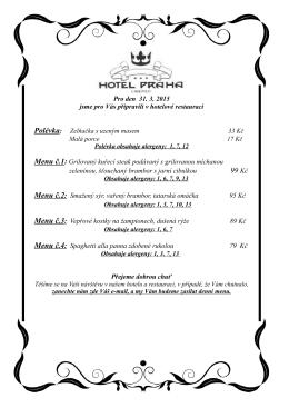 99 Kč - Hotel PRAHA