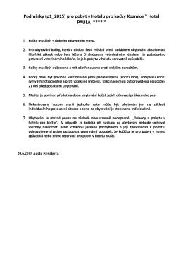 Podmínky (p1_2015) pro pobyt v Hotelu pro