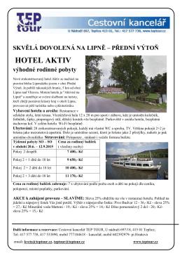 Lipno-hotel Aktiv
