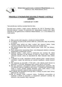 Pravidla vykonávání souvislé praxe