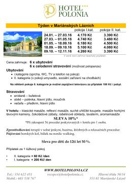 HOTEL POLONIA – MARIÁNSKÉ LÁZNĚ