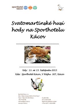 pozvánka - Sporthotel Kácov