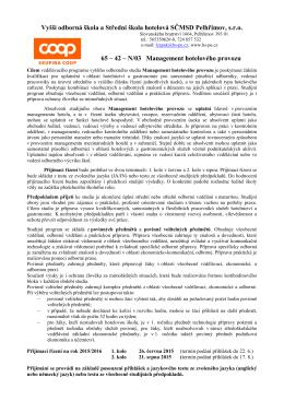 Vyšší odborná škola a Střední škola hotelová SČMSD Pelhřimov