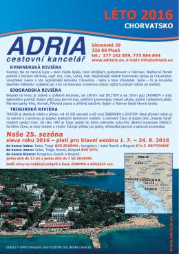 léto 2016 chorvatsko